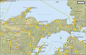 Upper Peninsula Map Upper Michigan Amateur Repeaters