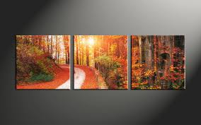 3 piece colorful scenery autumn canvas art prints