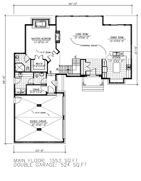 Double Garage Plans Traditional Style House Plan 3 Beds 2 50 Baths 2657 Sq Ft Plan