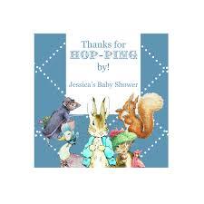 peter rabbit bluepersonalized hershey u0027s kisses baby shower