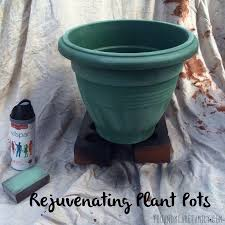 painting plastic plant pots archives you and me are family