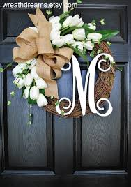 spring wreaths for front door the cotton burlap wreath cotton wreath fall wreath front door