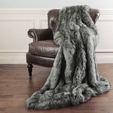 Fur Comforter Faux Fur Throw Blanket Gray Wolf Faux Fur By Cindyheitkampdesigns