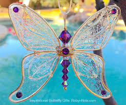 beautiful gifts butterfly gift set swarovski crystal butterfly sun catcher and
