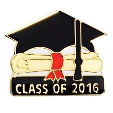 class of 2016 graduation class of 2016 award pin grad cap and scroll s