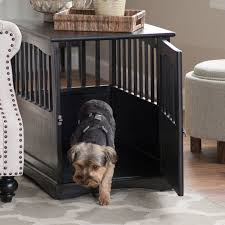 casual home pet crate end table table designs