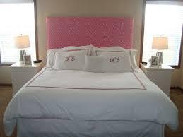Closet Behind Bed Bedroom Tufted Headboard With Nailhead Trim Wallpaper Closet