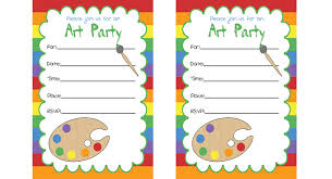 art party invitations u0026 printables birthday parties pbs parents
