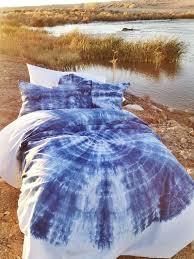 blue duvet set bohemian bedding twin xl twin full queen king soft bedding hand dyed dorm bedding boho bedding
