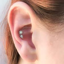 conch piercing cuff beautiful conch piercing on girl right ear