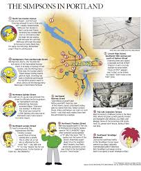 Portland Crime Map by The Simpsons U0027 Map Of Portland What Other Proof Do You Need That