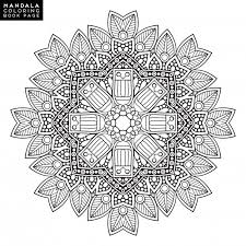 outline mandala for coloring book decorative ornament anti
