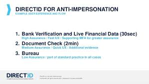 bureau direct assurance directid identity verification direct from the bank to you