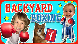 backyard bounce house boxing sam and ruby u0027s playhouse youtube