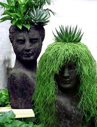 make your own garden head planter get a foam head from the craft