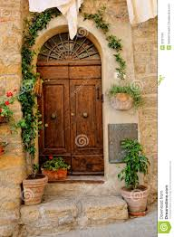 door to tuscan house stock image image of windowed vines 33327633