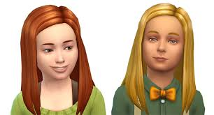 childs hairstyles sims 4 sims 4 child long straight hair simcitizens