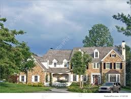 large colonial house image