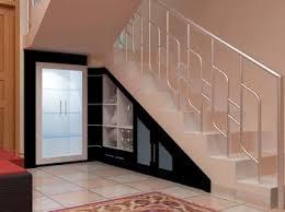under stair closet storage also cool stair railing under