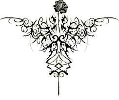 tribal rose tattoo design by kellb123 on deviantart
