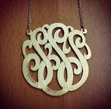 Monogram Initials Necklace Monogram Gallery Samples Of Monogram Jewelry Made For Our
