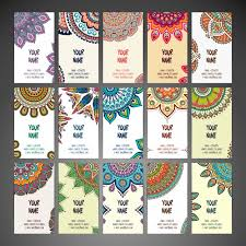 free cards cards with mandalas vector free