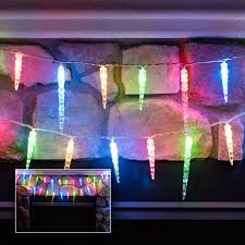 Multi Color Icicle Lights Decorative And Holiday Lights U2014 Novolink