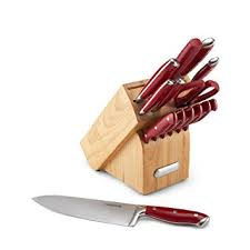 farberware kitchen knives farberware 15 forged riveted knife block