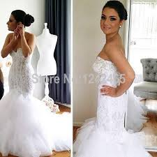 sexxy wedding dresses vestido de noiva trumpet sweetheart lace and tulle wedding gowns