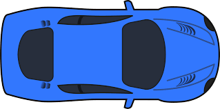 vehicle top view clipart dark blue racing car top view