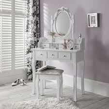 capri dressing table mirror u0026 stool set premium quality