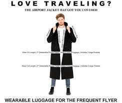 carry on fee incredible airport coat can store 15kg of luggage to beat