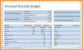 Excel Monthly Budget Template 7 Monthly Budget Template Budget Template