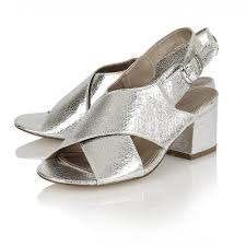 buy dolcis ladies manchester sandals in silver metallic