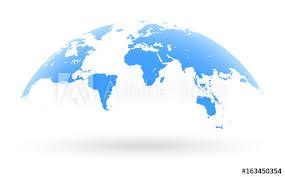 world map globe image blue world map globe isolated on white background buy this stock