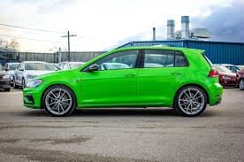 green volkswagen golf 2018 volkswagen golf r awd w leather navigation 292 hp digital