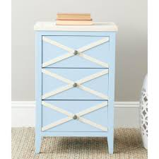 Small White Side Table by Safavieh Sherrilyn Light Blue And White Storage Side Table