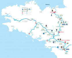 Brittany France Map H2olidays Different Regions For Boating Vacations In France
