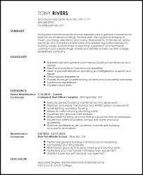 free traditional maintenance technician resume template resumenow