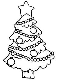 tree hanging ornament on coloring page color