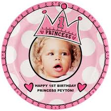 personalized dinner plate birthday princess 1st personalized dinner plate