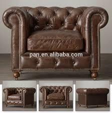 chesterfield canapé vintage en cuir classique européenne style chesterfield canapé