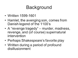 supernatural themes in hamlet hamlet the dark prince why can t he do what he has to do ppt