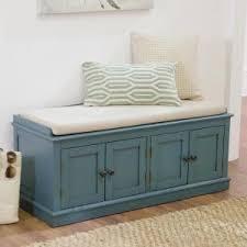 Home Decorators Bench Home Decorators Collection Laughlin Antique Blue Storage Bench