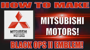 mitsubishi emblem black ops 2 how to make mitsubishi emblem youtube