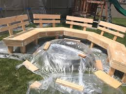 diy fire pit bench with step by step insructions keeping it