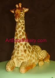 custom three tier jungle theme baby shower cake with giraffe