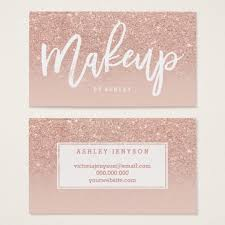 freelance makeup artist business card makeup artist typography blush gold business card
