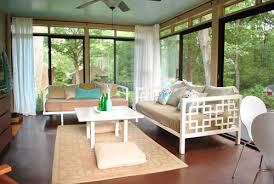 Sun Porch Curtains How To Hang Corner Curtain Rods Painting The Ceiling Blue