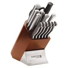 sabatier kitchen knives sabatier 15 stainless steel metal and cherry wood knife